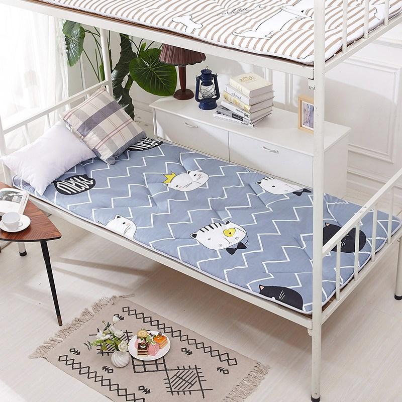매트리스토퍼 학생침대 매트숙소 2층침대의위아래침대 0.9m1.2m털갈이 다다미 접이식 두꺼운 싱글더블 침대요 1.5m, C03-150*200cm