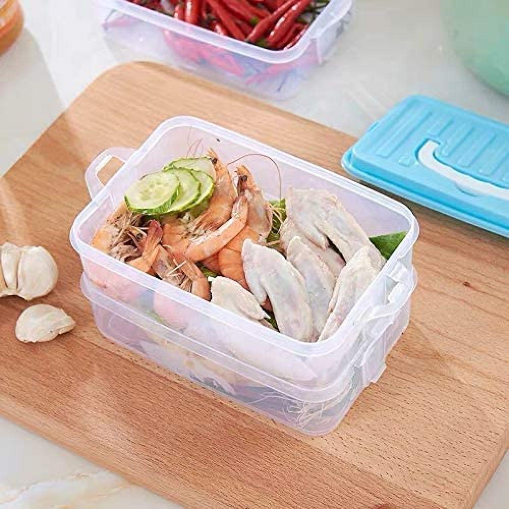 Home Chef by Pro Family 보관 용기 블루 1 SET 색상의 뚜껑 3 식품 용기 포함한다. 브랜드 선도 비교. 증, 상세페이지참조
