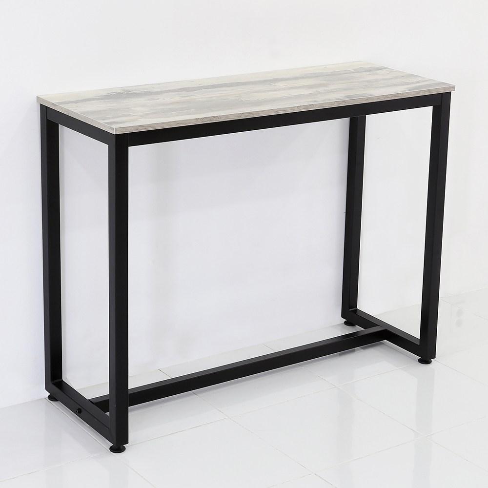 THEJOA [더조아] 홈바테이블 높은테이블 카페 인테리어 아일랜드식탁 홈바테이블 콘솔, 1200 빈티지그레이