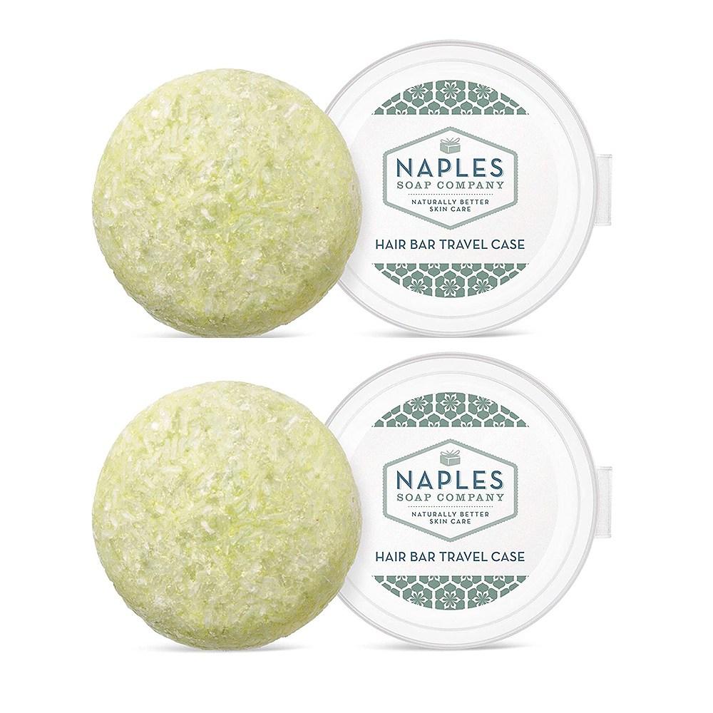Naples Soap 고체 샴푸 바 코코넛 2.25oz(64g)x3, 1개
