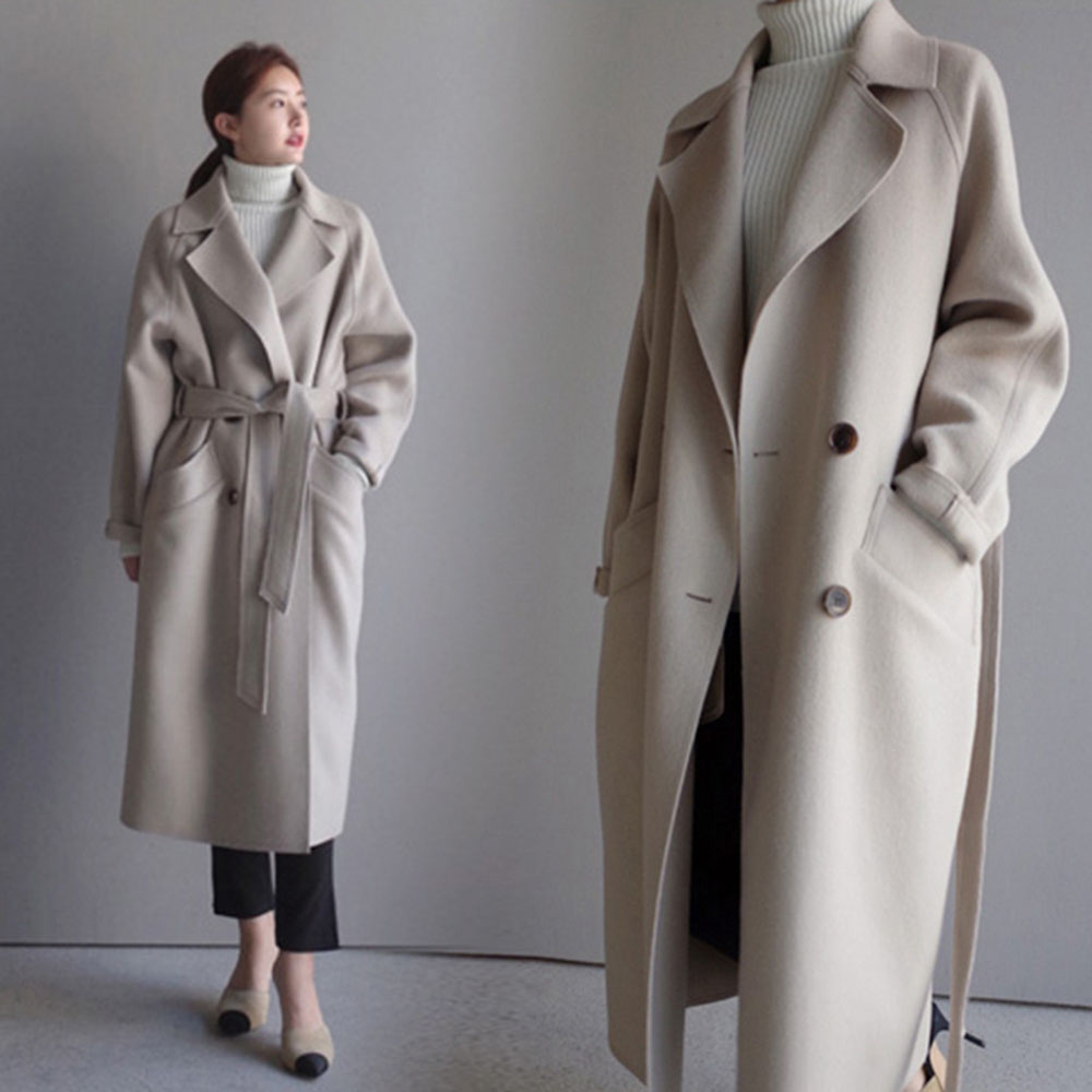 다소미얼 봄가을 패션 포근한 모직 코트 여성 코트 스타일링A202126+무료 배송