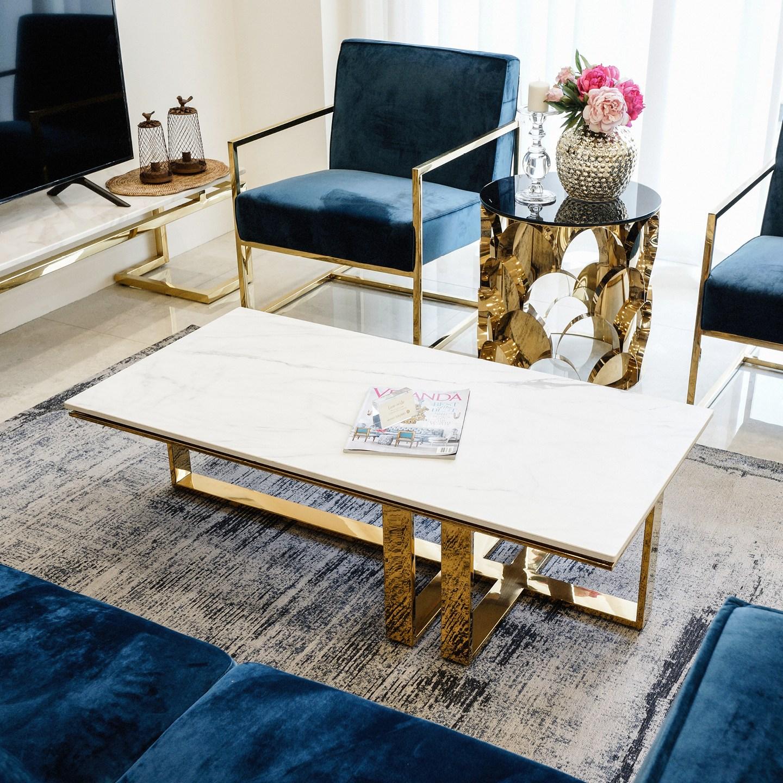 밀라512 로우와이드 직사각 세라믹 대리석 소파 테이블, [골드] 아라베스카토 패턴 대리석 1200 x 600