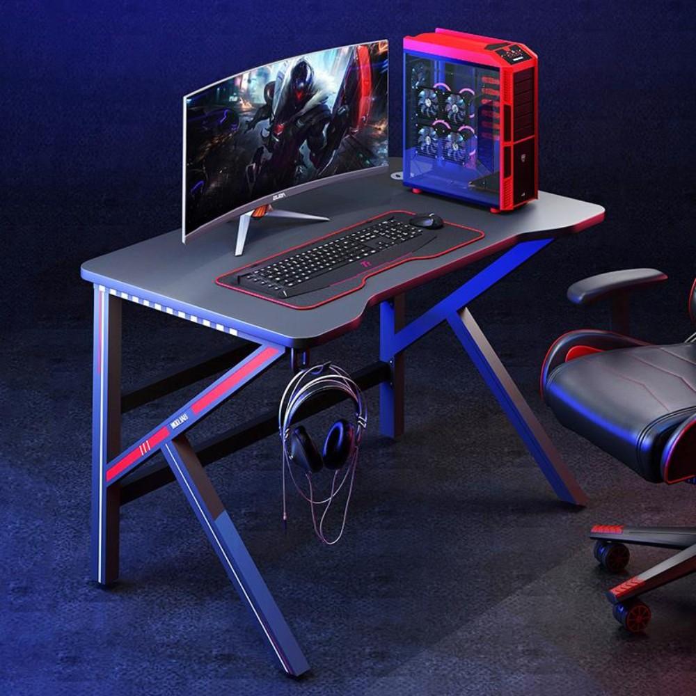 컴퓨터책상 게이밍책상 1인 2인 테이블 테스크탑 의자 세트, 80x50x75