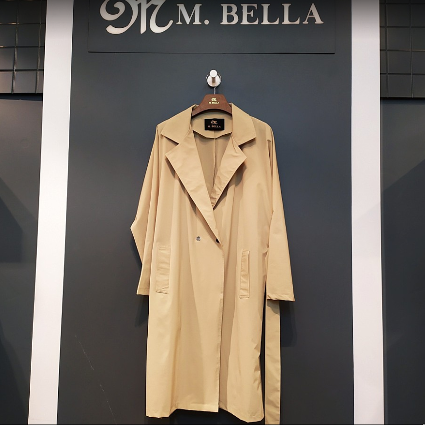 엠벨라 뉴코아창원점 20SS최신상 뒷셔링 봄 여름 바바리 트렌치코트
