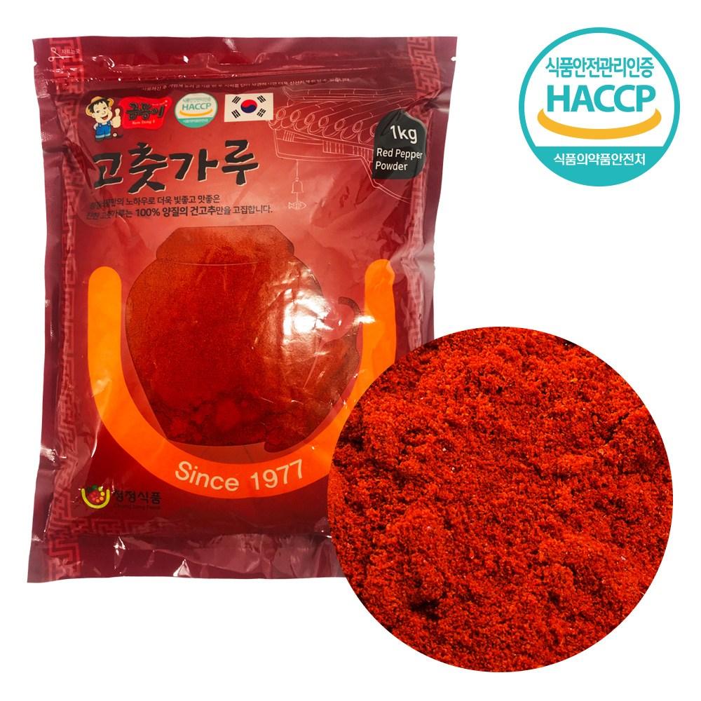 청정식품 HACCP 국산 태양초 고춧가루 고은가루 1kg CJA001-7, 1개