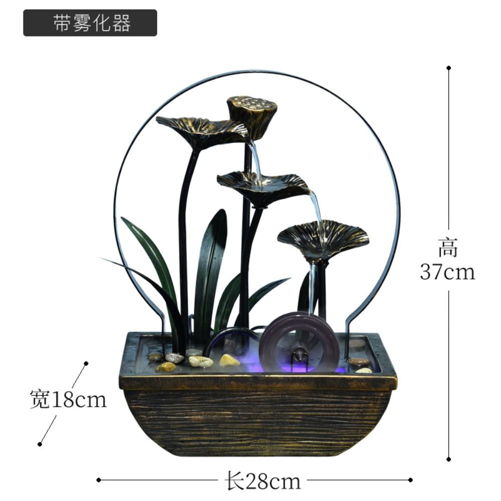 실내 연못 인테리어 장식품 정원 가정용 미니 연꽃 분수 집들이 40대 엄마 생일 선물, 안개 낀 모델 (POP 5590238535)