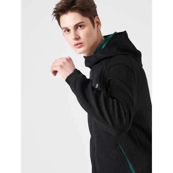 빈폴스포츠 블랙 남성 FRESHOLE 트레이닝 후드 재킷 (BO9241F015)