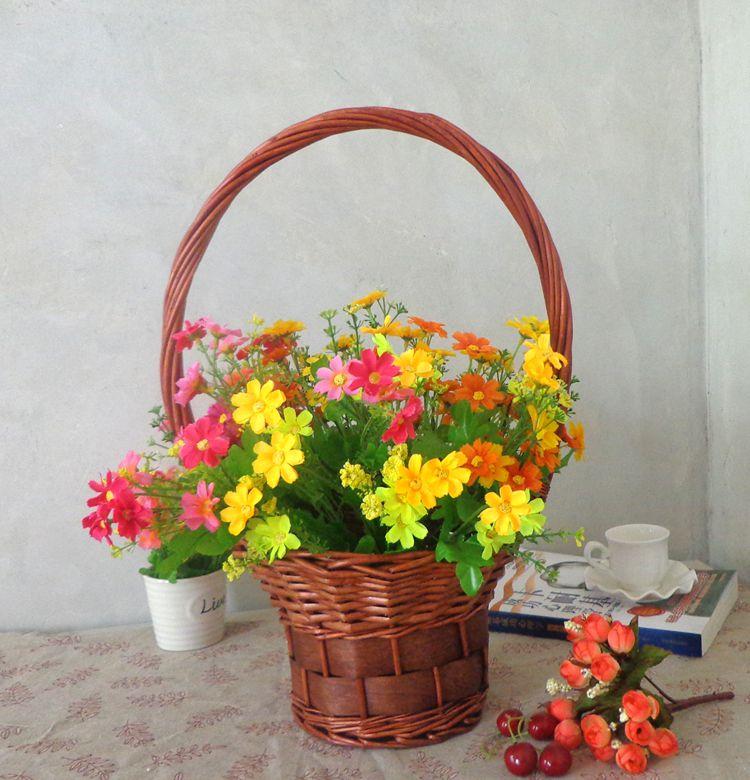 과일바구니 꽃바구니 라탄바구니 라탄공예, 중간, C