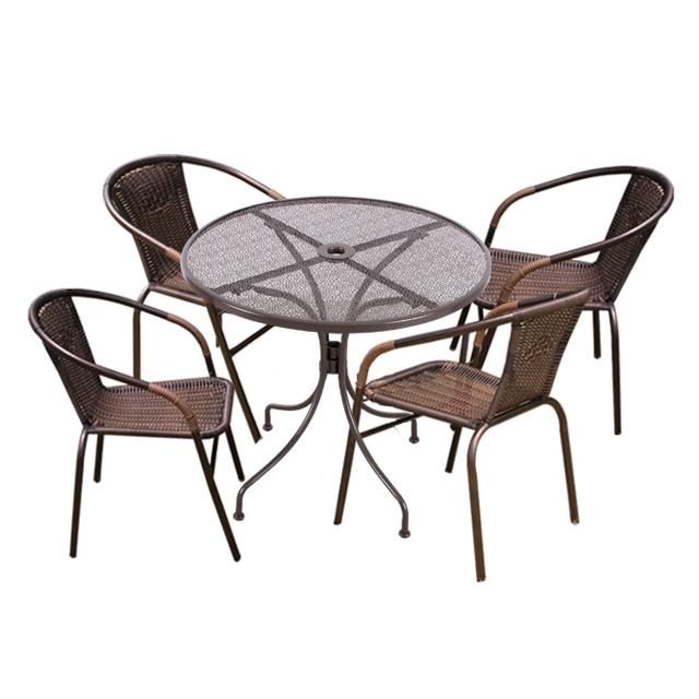 지엠타공 테이블 39번 4인 야외 테이블 세트, 테이블700 +의자4개
