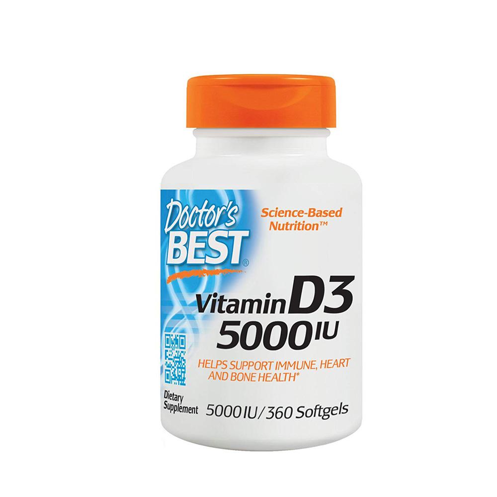 Doctors Best 비타민 D3 5000 IU 360정, 단품