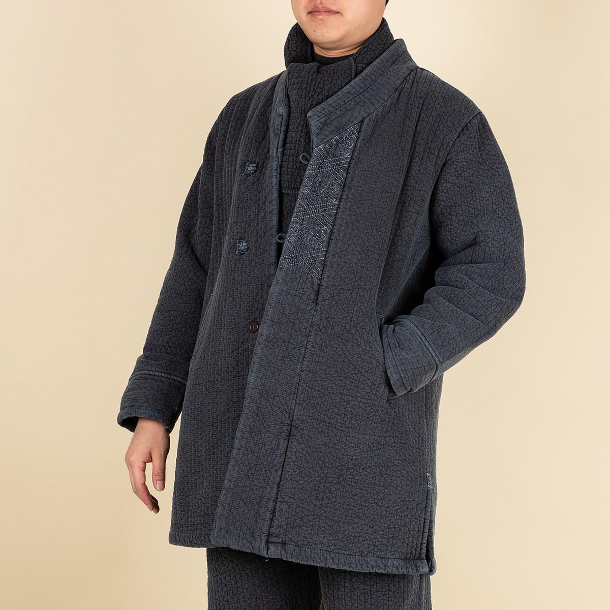 다오네우리옷 남자-후염 기모 누빔 두루마기 생활한복(개량한복)