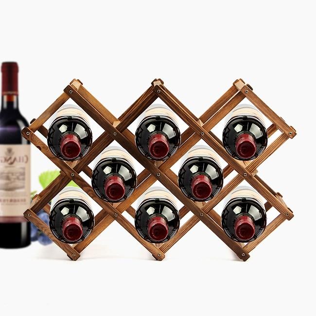 리아케이알 원목 와인렉 접이식 와인거치대 와인홀더 와인병보관, 3_원목 폴딩 와인렉(월넛)(8구)/1221083