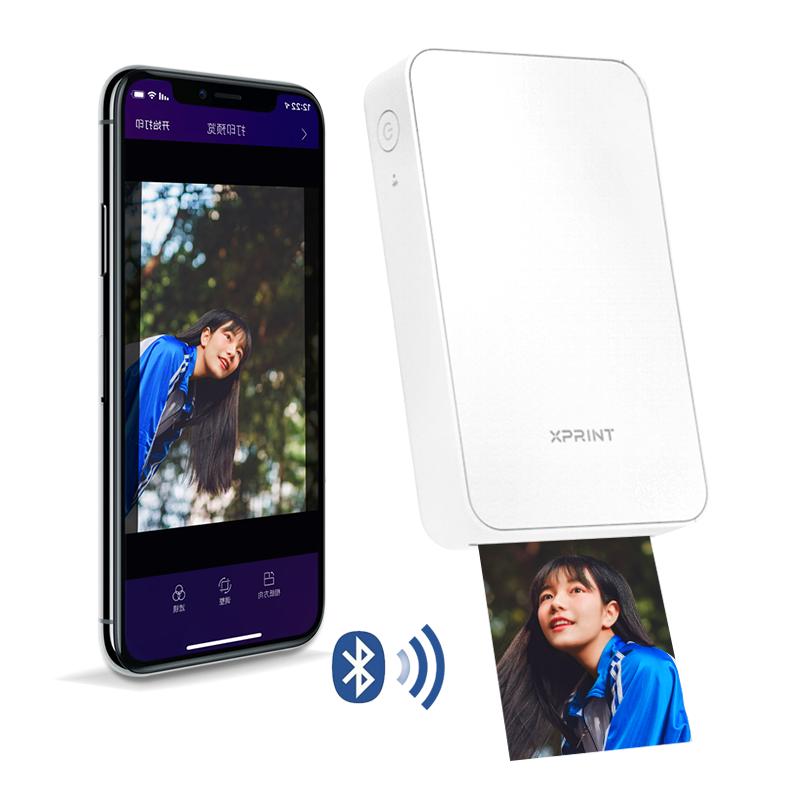 휴대폰 스마트폰 휴대용 즉석 프린트 핸드폰 사진 출력기 인화기 Xprint, 화이트_공식 표준