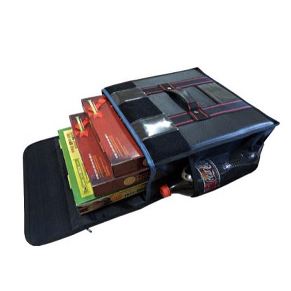 대성ENG 피자가방 3판용 고급형검정 내부보강 배달가방, 검정