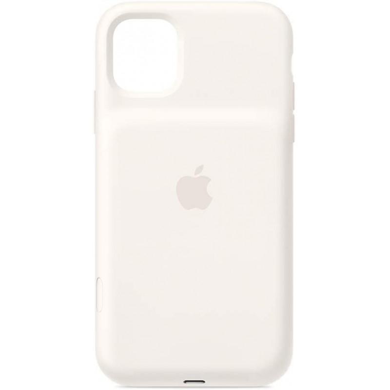 아이폰12 케이스 Apple Smart 배터리 케이스 및 무선 충전(아이폰 11용) - 흰색