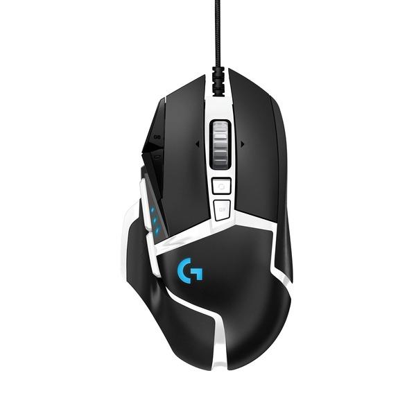 로지텍 G502 SE HERO 정품박스 새상품 유선 마우스, 블랙/화이트