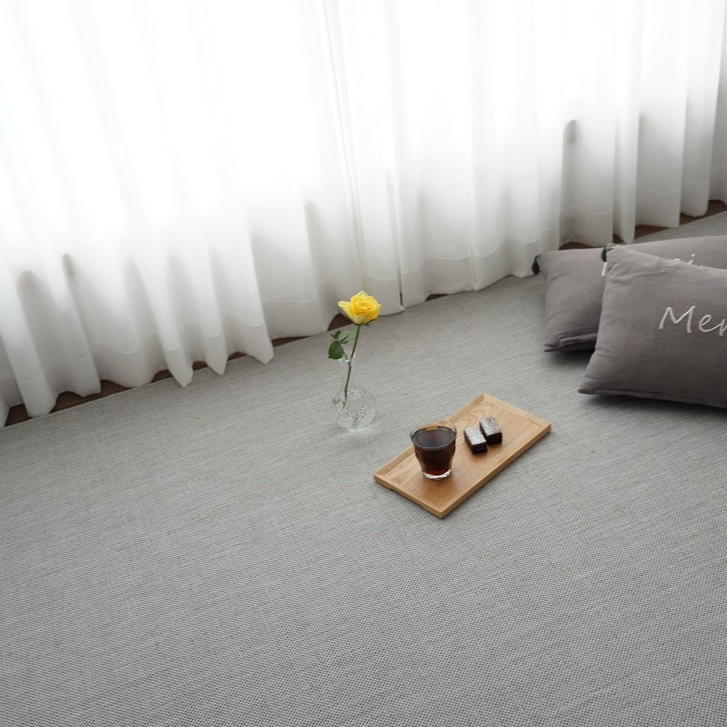 마하나홈 벨기에 사이잘룩 러그 - 사계절카페트 거실러그 수입러그 (4 color 2 type), 1. 오트밀