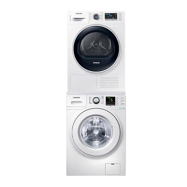 [삼성] 버블샷 드럼 세탁기 건조기 세트 WF12F9K3UMW11+DV90R6200QW, 단일상품