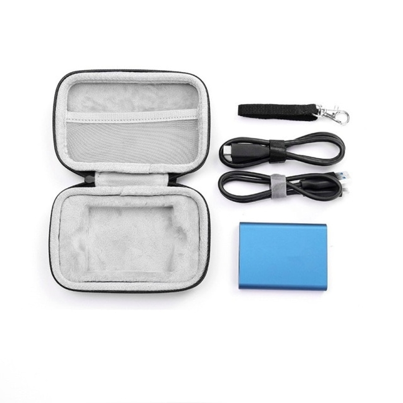 휴대용 SSD 250GB 500GB 1TB 2TB USB 3.1 외부 솔리드 스테이트 드라이브 하드 EVA 충격 방지 휴대용 케이스 2 삼성 T7 T5 T3, T5 SSD 1 개용 검정색 (POP 5694980041)