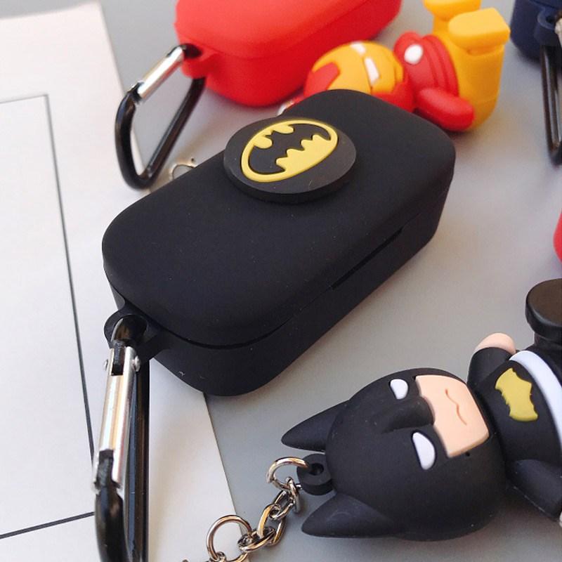 QCY T5 블루투스 이어폰 어벤져스 캐릭터 케이스 커버, 배트맨, 04_QCYT5캐릭터케이스