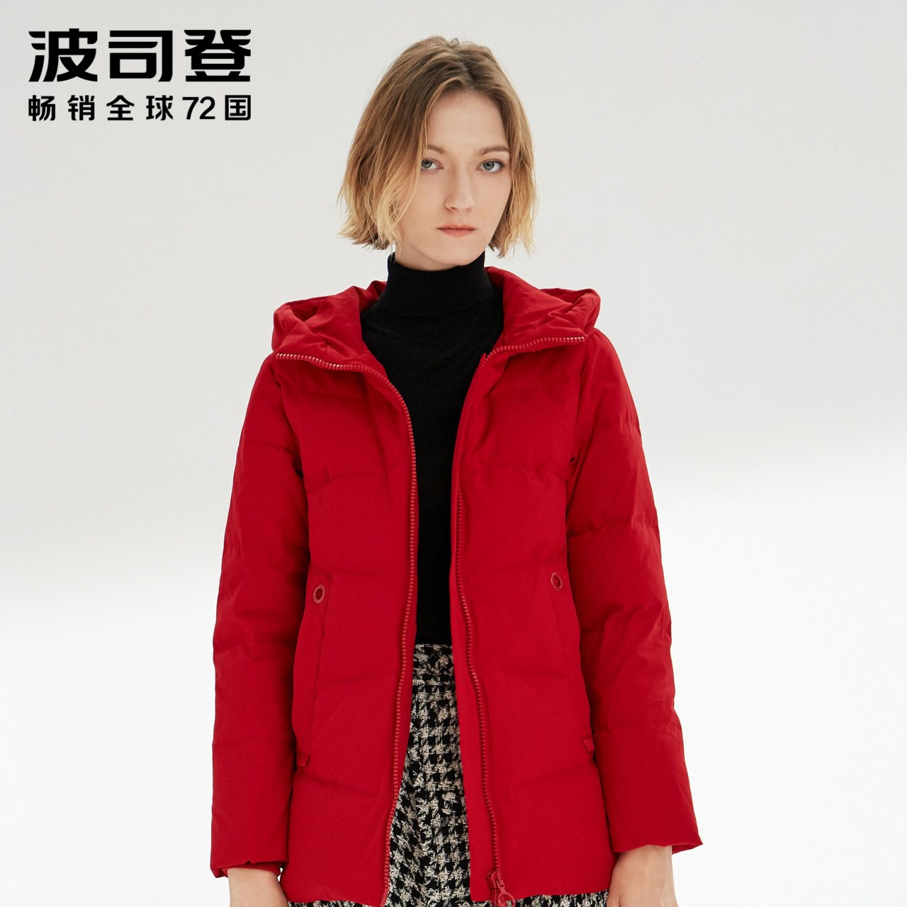숏패딩 여성용 짧은타입 2019겨울 신상품 후드패딩 보온 두툼한 외투 B90141016