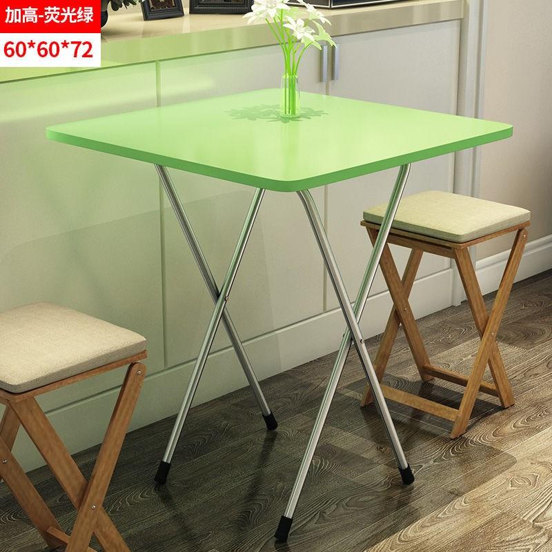 접이식식탁 .심플 접이식탁자 가정용 식탁 소형 베란다 소형둥근테이블 휴대용 노상테이블 기숙사 심플테이블, T14-B58-(두꺼운)직사각형 60넓이 60높이 72그린색 A7