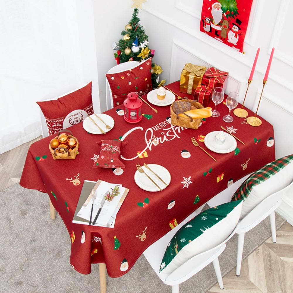 캠핑 방수 테이블보 크리스마스 성탄절 미니 협탁보 식탁보 1인 6인용 크로쉐, 85x85CM, B