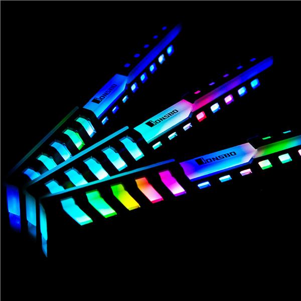 존스보 메모리 방열판 램 NC-2 RGB COLOR버전 2개SET, GT381 ZSB메모리방열판 A