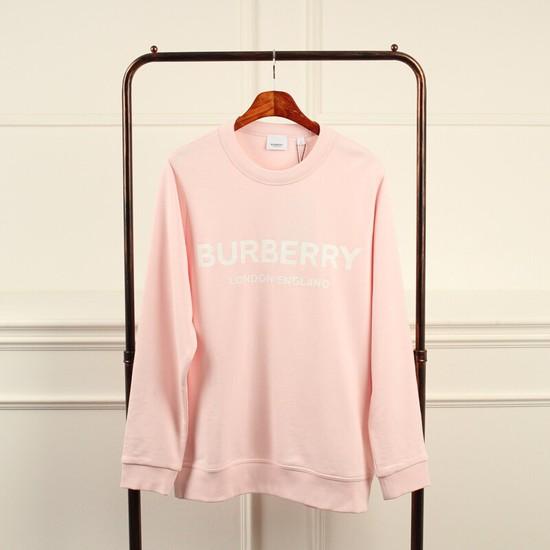 버버리 로고 맨투맨 티셔츠 남성용 핑크 L BR20200413
