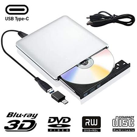 외장 Blu Ray DVD 드라이브 3D USB 3.0 TypC C 이동용 블루레이 DVD Cd 광학 버너 RW Cd Row for 맥북 OS, 상세 설명 참조0