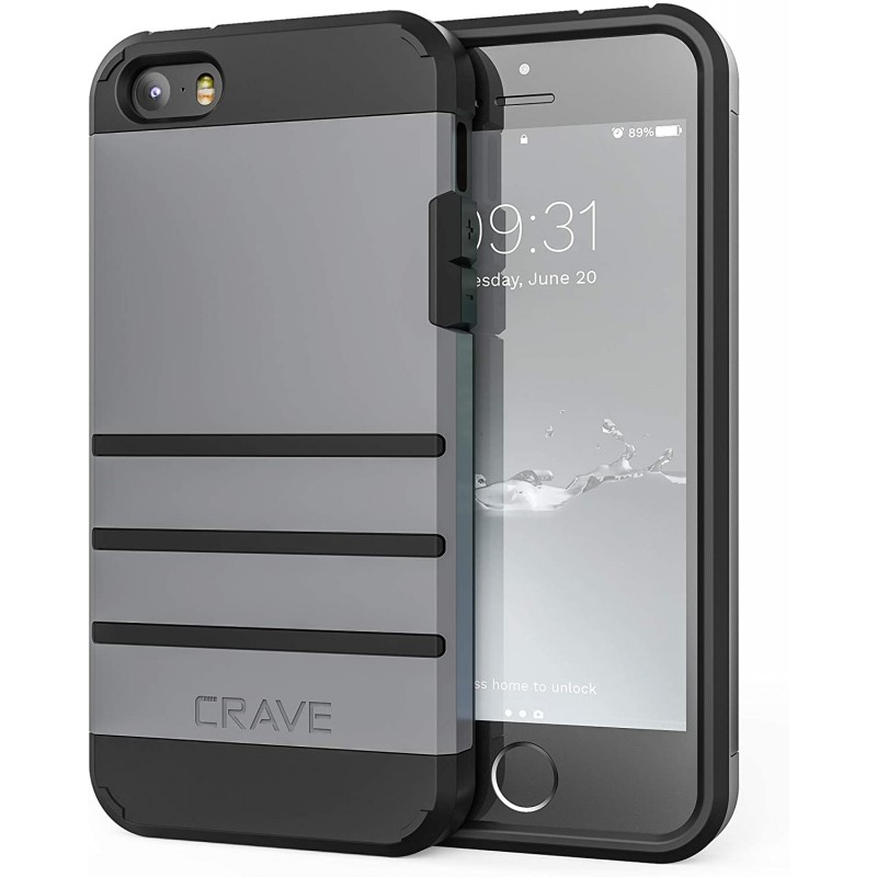 iPhone SE [2016] (1 세대) Case iPhone 5s Case iPhone 5 5s SE-Slate를위한 Crave Strong Guard Protection Series Case