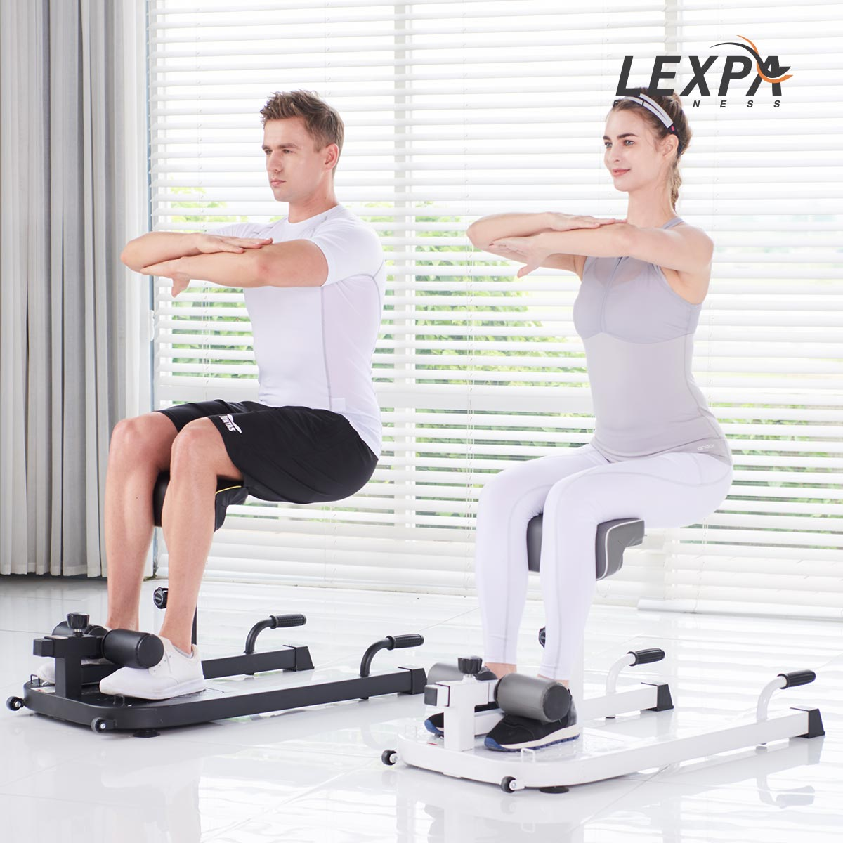 렉스파 알파스쿼트머신 YA-6400 웨이트기구 힙업운동 하체운동기구 전신운동기구 유산소운동기구, 화이트
