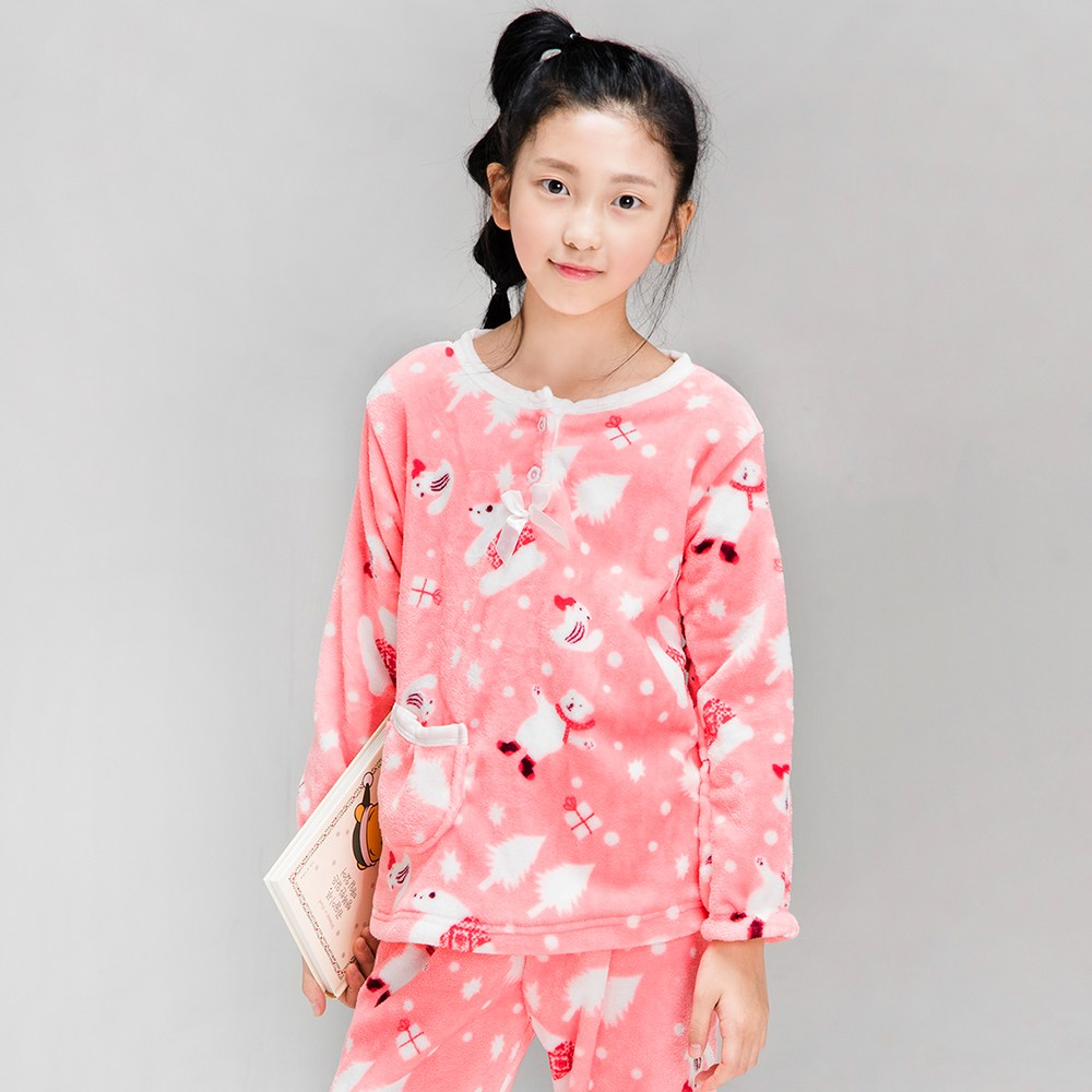 이라인 캔디곰 아동 주니어 수면잠옷 상하세트(70~90)