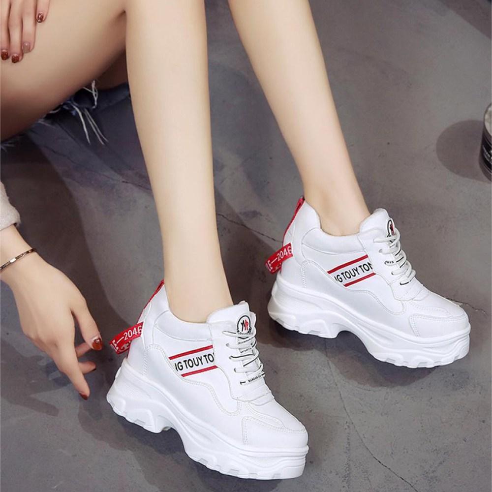 YZ 여성 키높이 운동화 신발 스니커즈 90 AKkr7ue