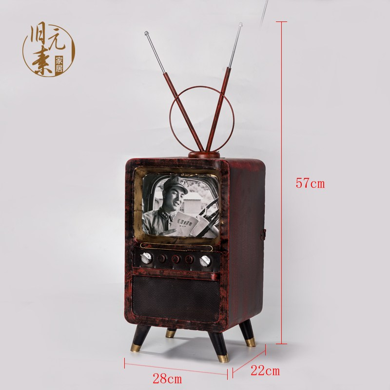 unclelyan 인테리어 소품 키덜트 미니 빈티지 소형 레트로 TV, 브릭안테나 (POP 5447239503)