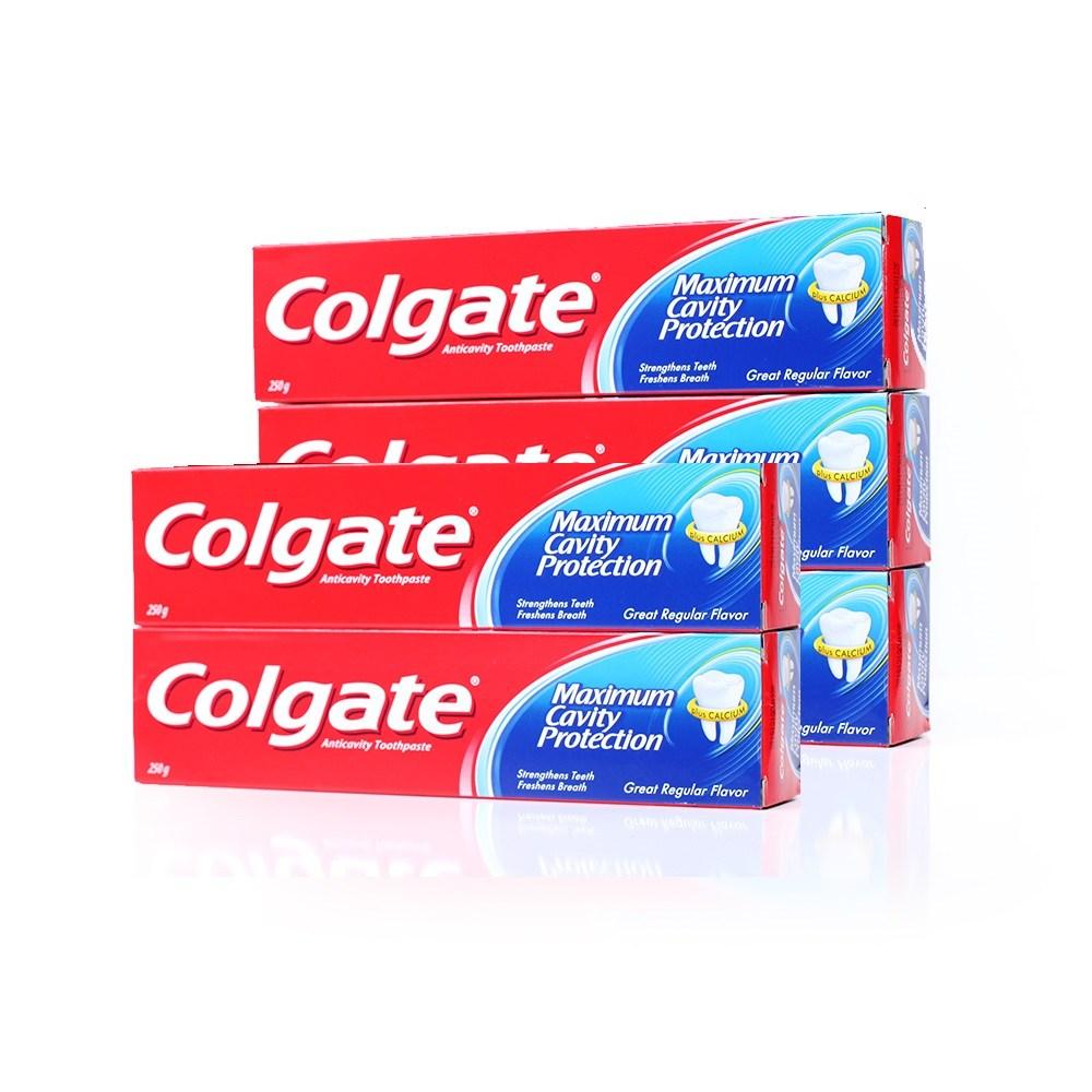[콜게이트] 레귤러 대용량치약5개 안티프라그 상쾌한민트향 치약, 1박스