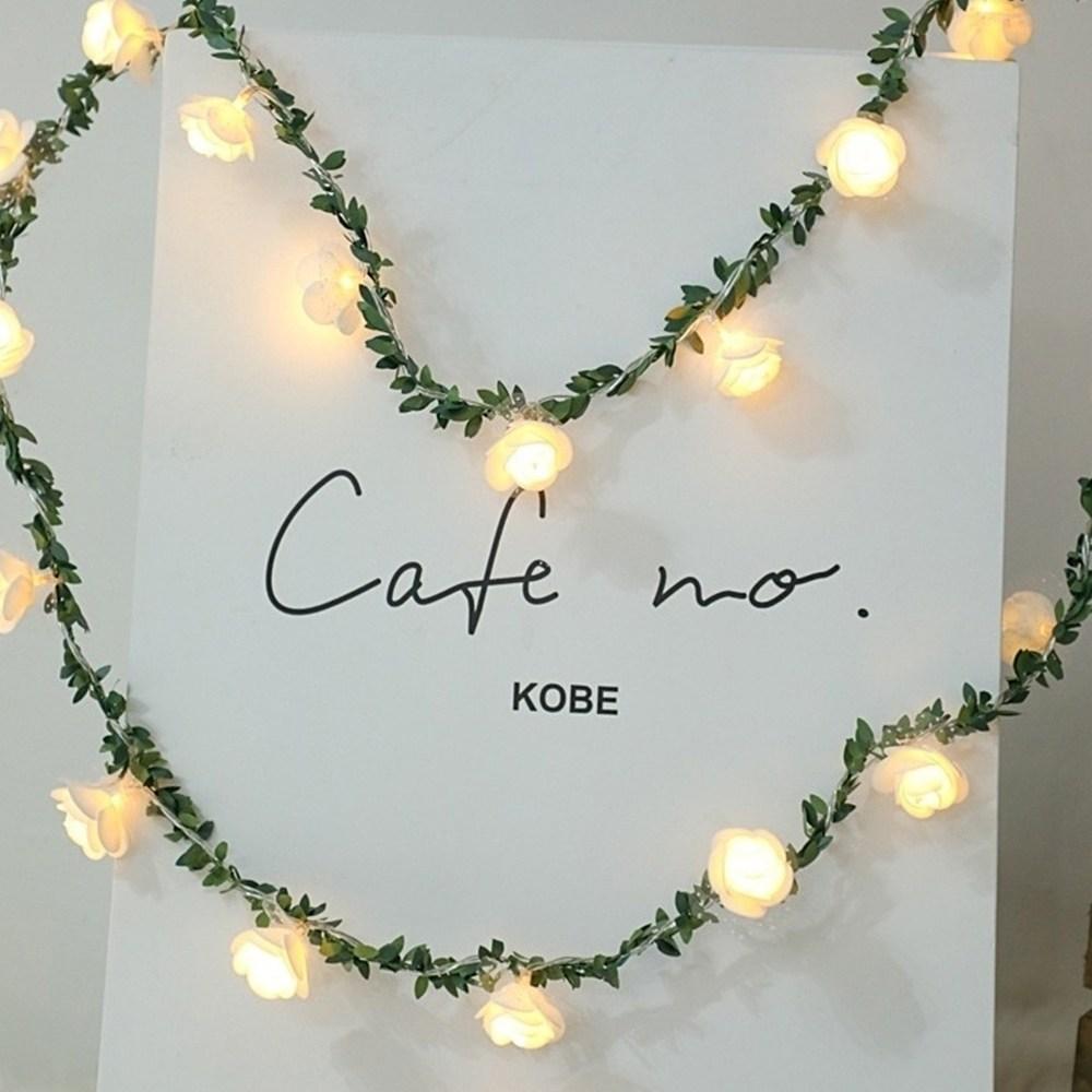 21세기트랜드 LED줄조명 인테리어조명 크리스마스전구 장식 줄조명, 3.나뭇잎 장미 전구:3m20구-황색