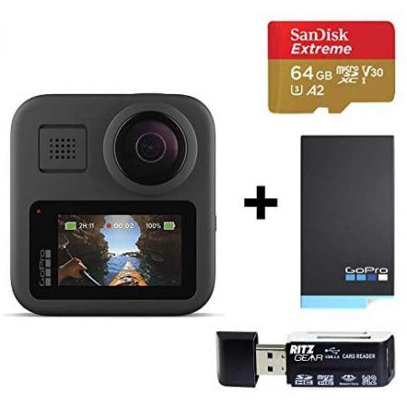 [아마존베스트]GoPro MAX Waterproof 360 + Traditional Camera with Touch Screen Spherical 5.6K30 HD, One Color_One Size