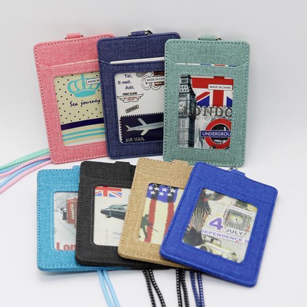 UHD725181트레블 목걸이카드지갑 빈티지 (7colors) 교통카드지갑 가죽카드지갑 여자목걸이카드지갑