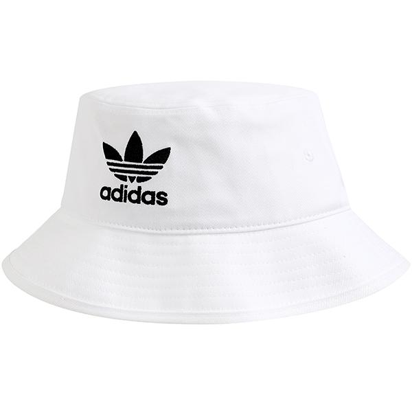 아디다스 벙거지모자 아디컬러 BUCKET HAT + 패션마스크, White