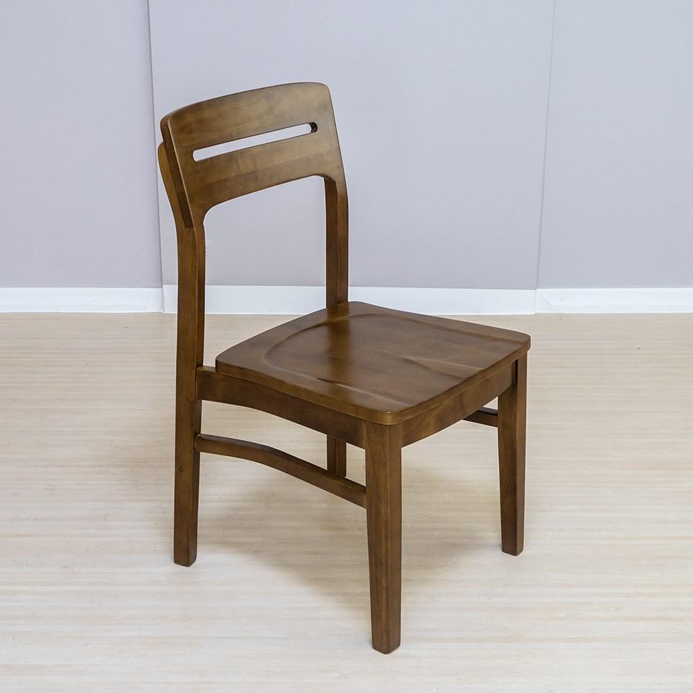 라로퍼니처 사피노 원목 식탁의자 고무나무원목 인테리어의자, 단품