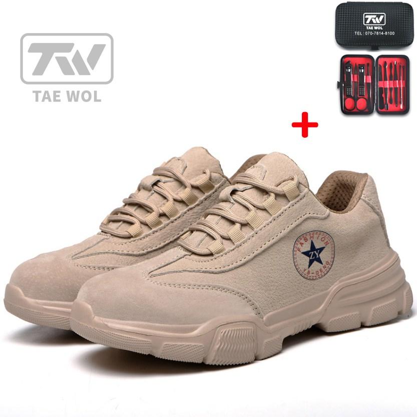 TW 미끄럼방지 초경량 남자 패션작업화 작업신발 안전화J0005