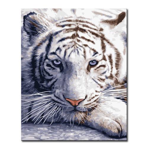 DIY 캔버스페인팅 명화그리기 - 동물 40x50, A01_백호Ⅱ