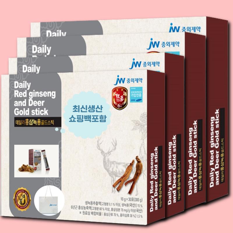홍삼녹용 골드 진액 스틱 하루에 한포 선물, 4box, 300g