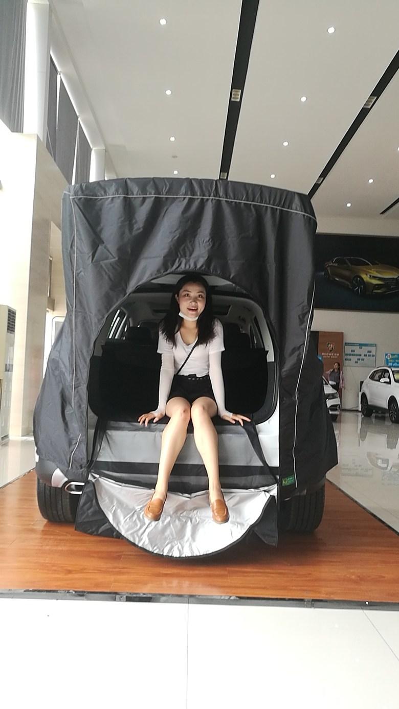 차량용 도킹 텐트 트렁크 카 캠핑 SUV 산타페 팰리세이드 차박텐트, 검은색