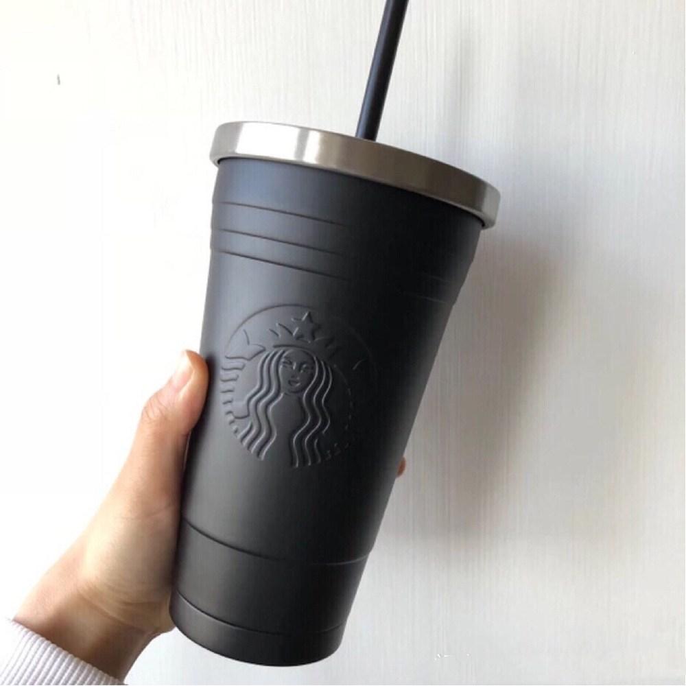 스타벅스 명품 안새는 텀블러 473ml SS 스벅 보온 보냉 대형 텀플러 선물 대용량 스텐 컵, 세줄블랙&실버(473ml)