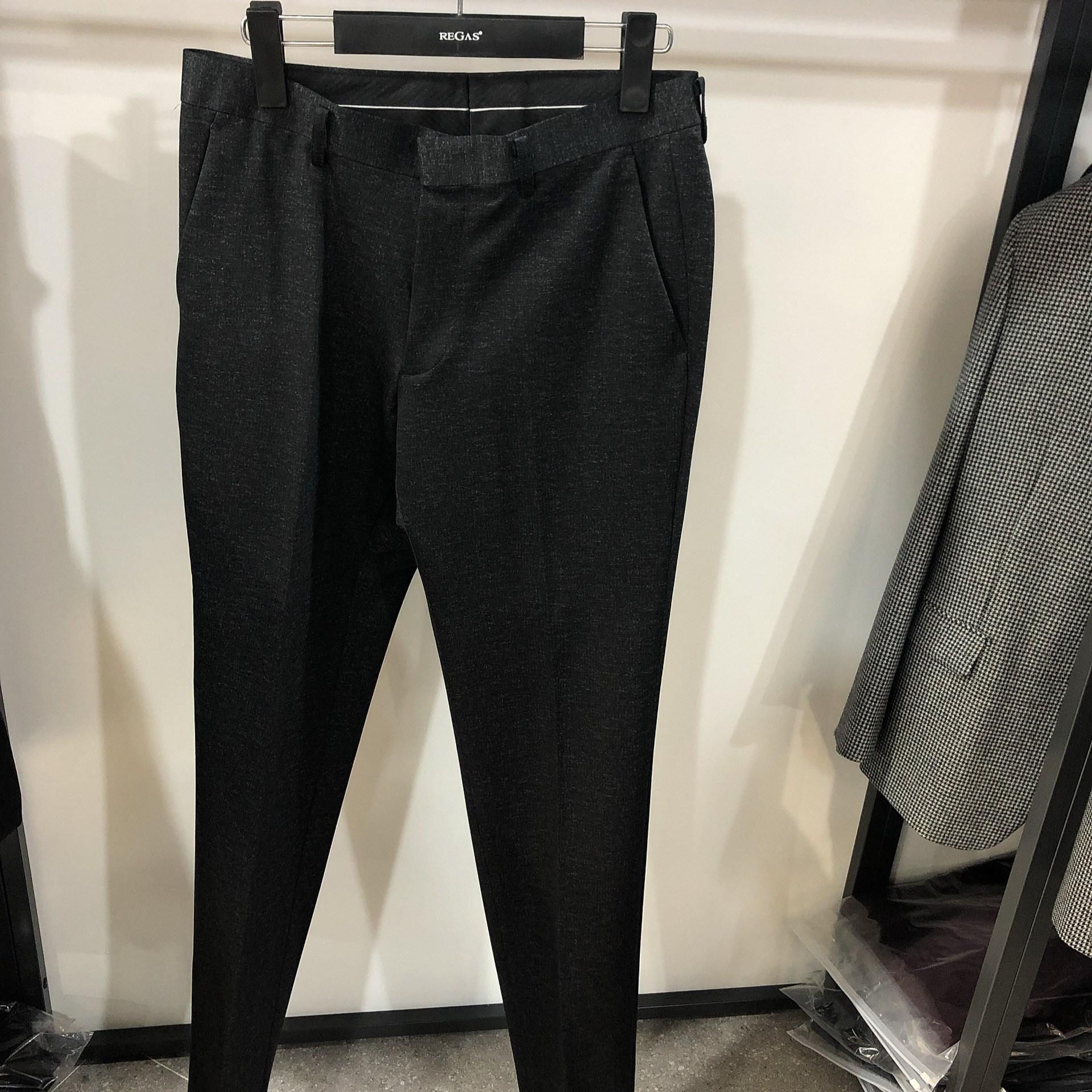 [행복한백화점][보스렌자]남성 기본라인 겨울용 정장팬츠 슬랙스 그레이멜란지 REFSL8567