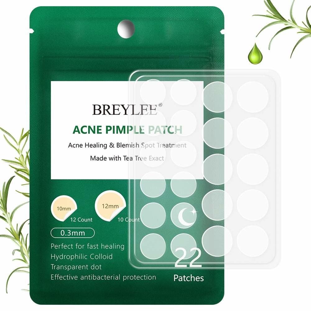 BREYLEE Acne Absorbing Cover Patch 아크네 커버 패치 22개입 2팩, 1개, 1개