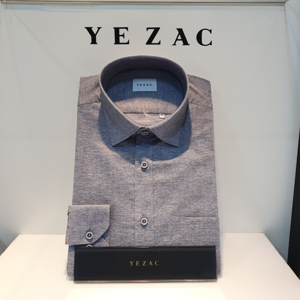 예작 스트레치 솔리드 일반핏 가을 셔츠(YJ0FBR903/GY)
