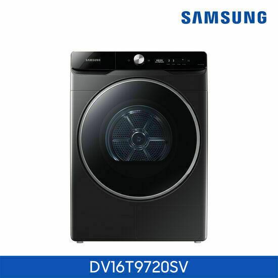 [삼성]건조기 그랑데 AI 16kg 블랙 DV16T9720SV, 색상:상단설치(무료)